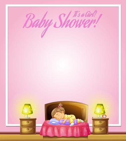 Progettazione del fondo con il bambino che dorme a letto
