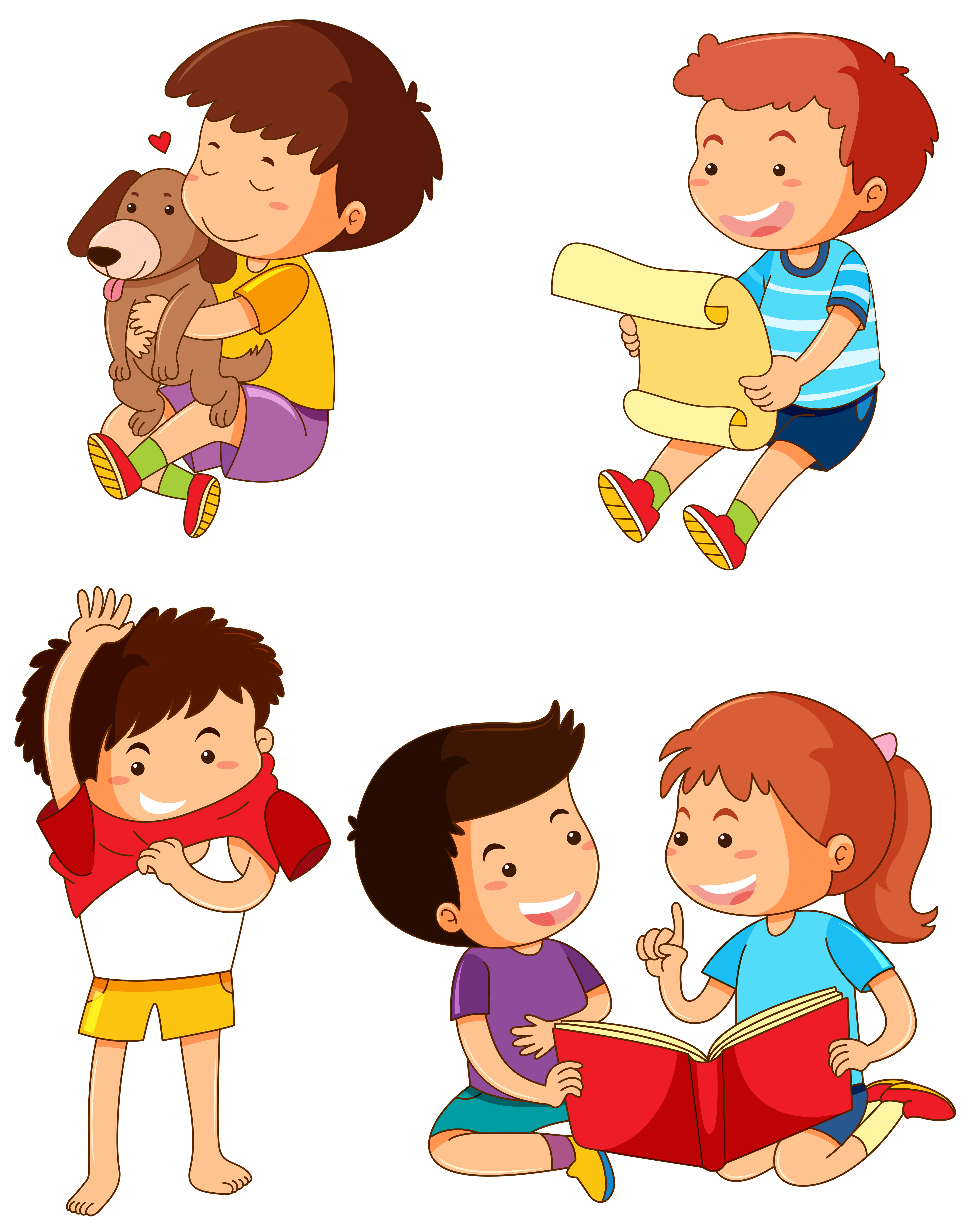 349a131400 Boys in different actions - Download Free Vector Art