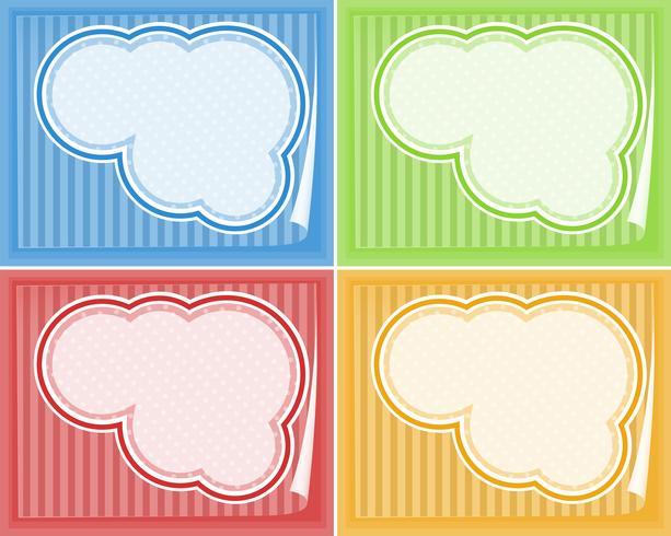 Gränsmallar i fyra färger
