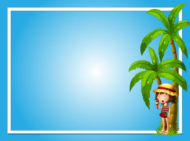 A Tropical Summer with Girl Blue Template