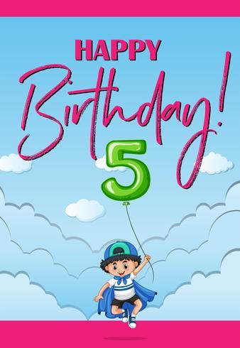 Buon compleanno per cinque anni