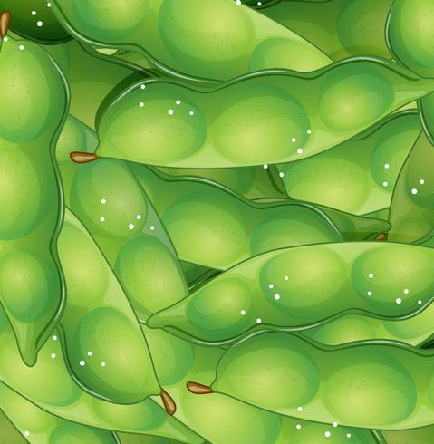 Plantilla inconsútil de guisante verde orgánico