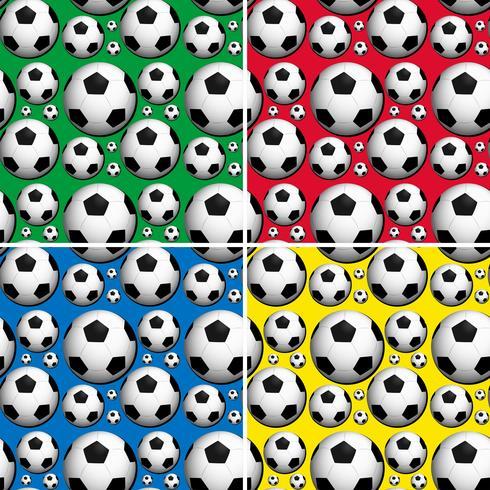 Ballons de foot sans couture sur fond de couleurs