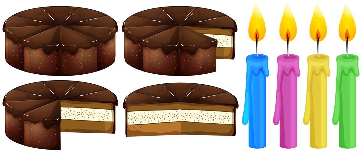 Gâteau au chocolat et bougies