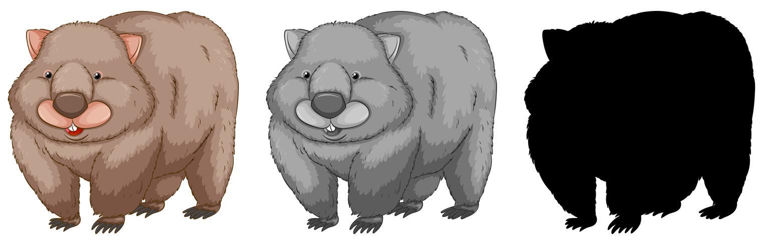 Ensemble de personnage de wombat