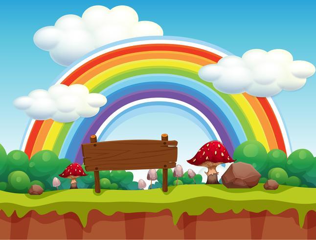 Un parco e un paesaggio arcobaleno