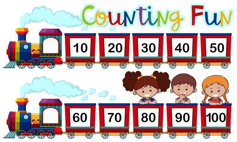 Conteggio dei numeri sul treno