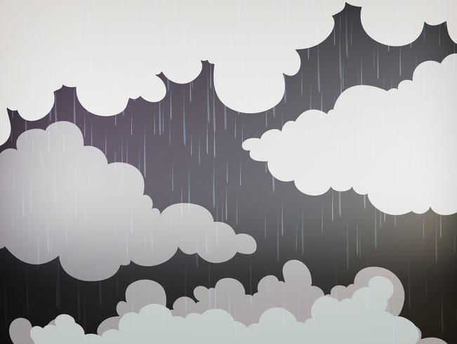 Fondo de naturaleza con lluvia en el cielo