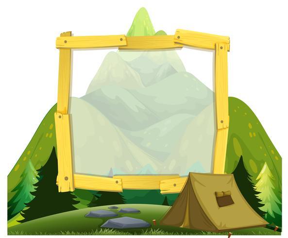 Un cadre de camping en montagne