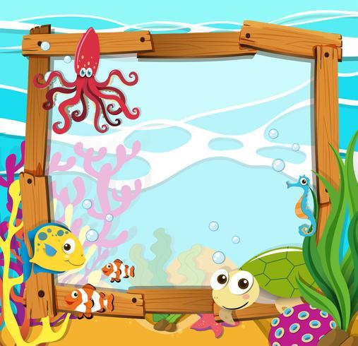 Design de frontière avec des animaux marins