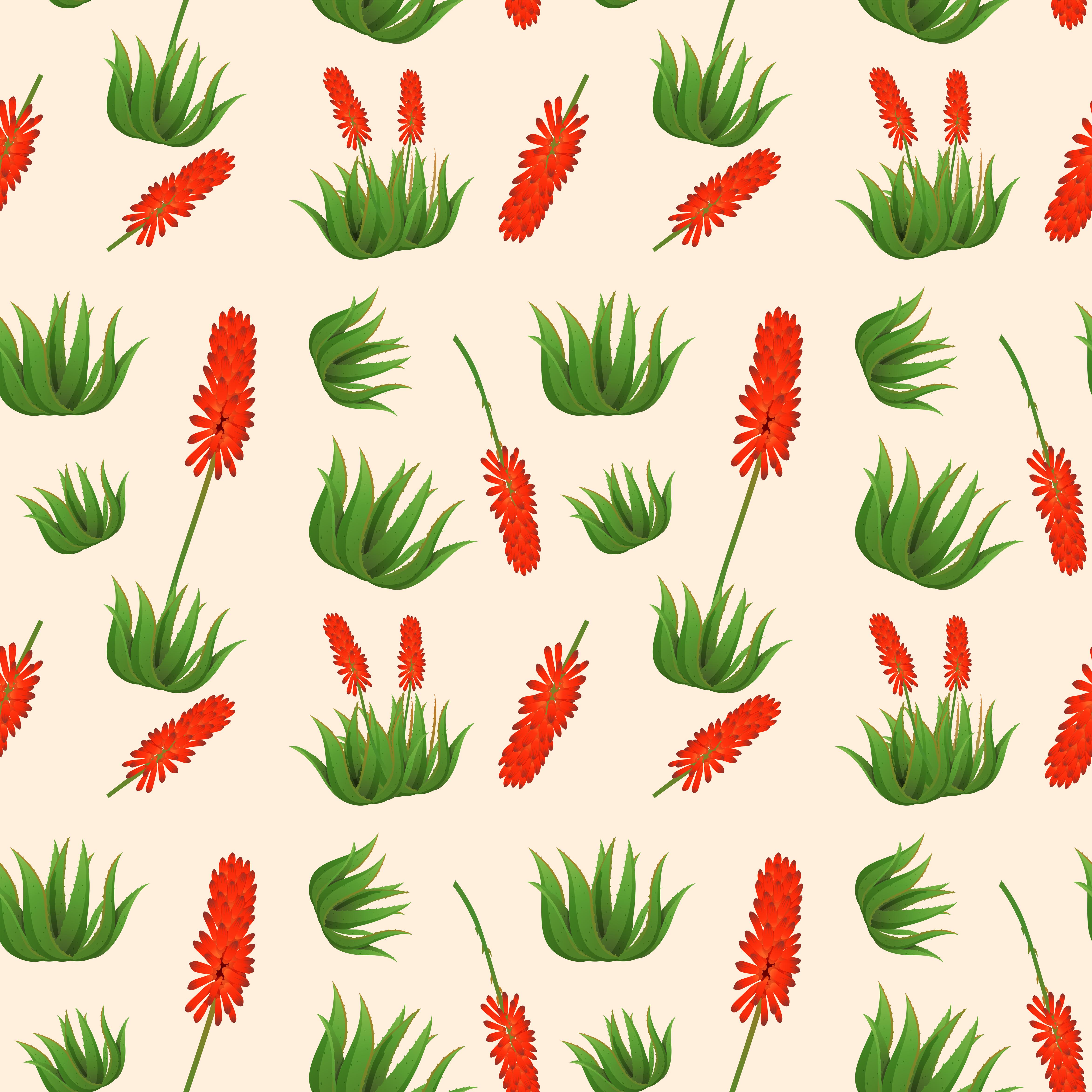 Aloe Vera Flower Seamless Pattern Download Free Vectors Clipart Graphics Amp Vector Art