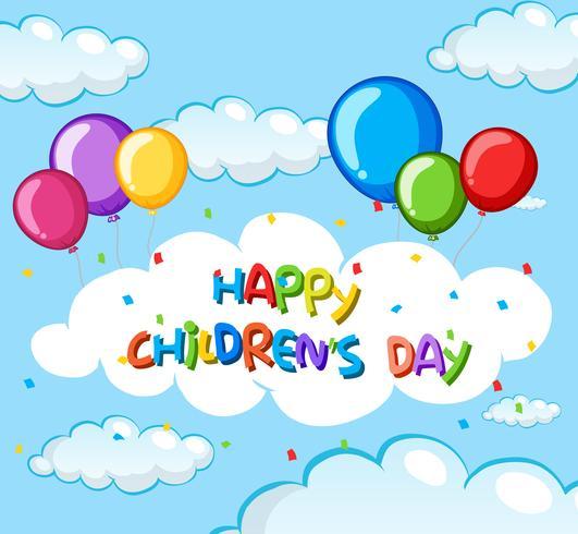 Modèle de jour des enfants heureux