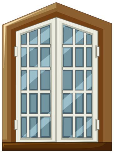 Design della finestra con cornice in legno