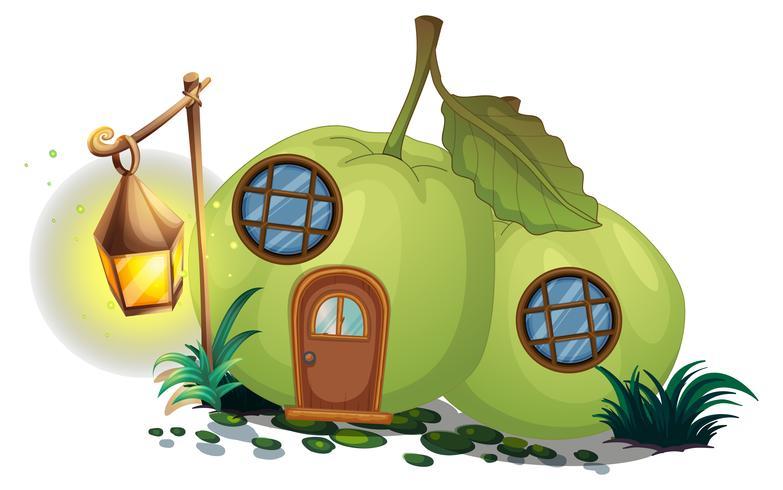 Maison de goyave avec lanterne