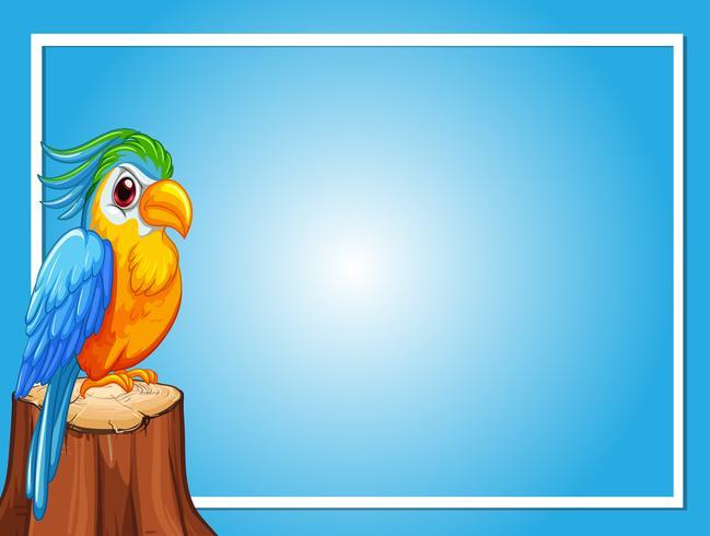 Border template with parrot bird vector