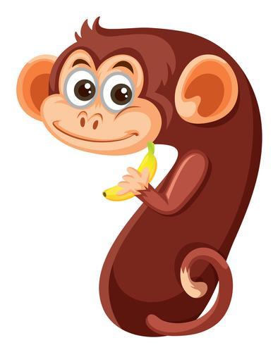 Carattere scimmia numero sette