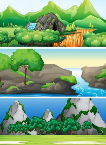 Set av natur scen