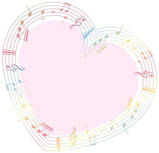 Gränsmall med noter i hjärtform