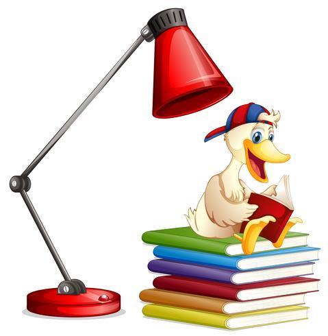 Un livre de lecture de canard