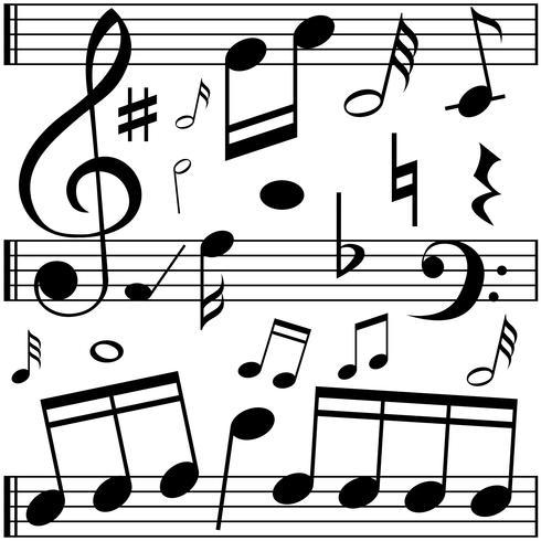 Musik noter på linjeskalor vektor