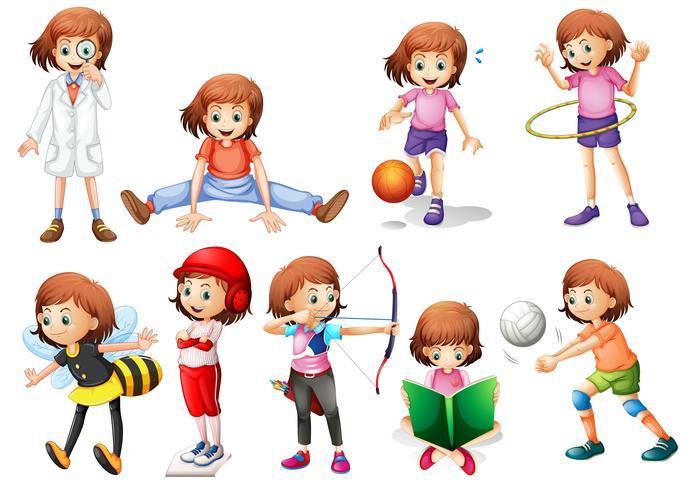 Set di attività della ragazza