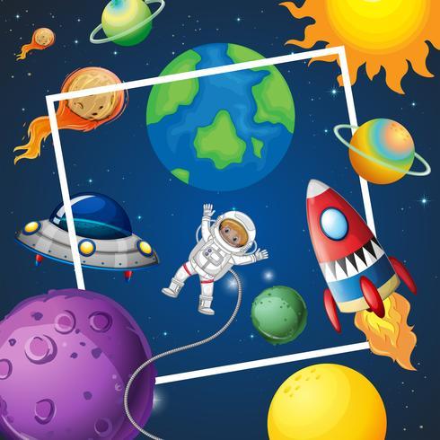 Un elemento de marco de espacio vector