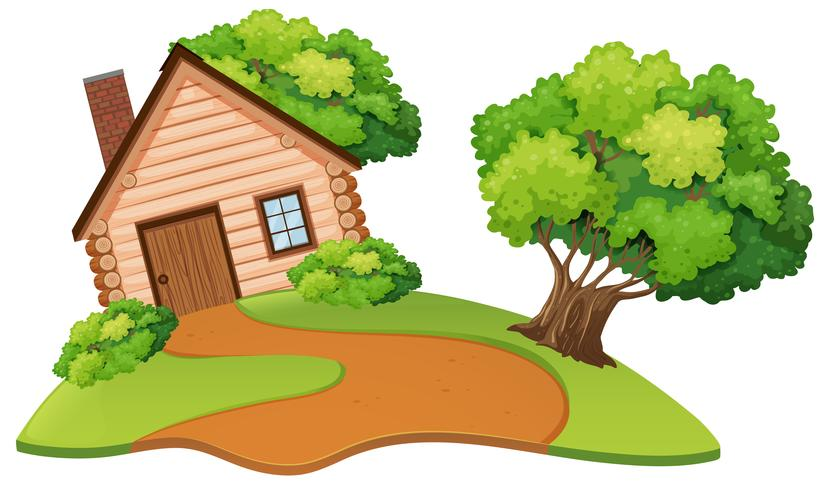 Isolerat hus i naturen