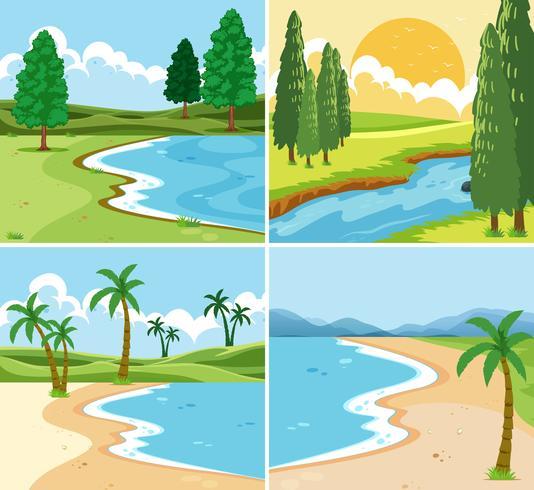 Un ensemble de beau paysage