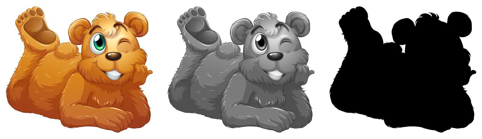 Ensemble de personnage d'ours