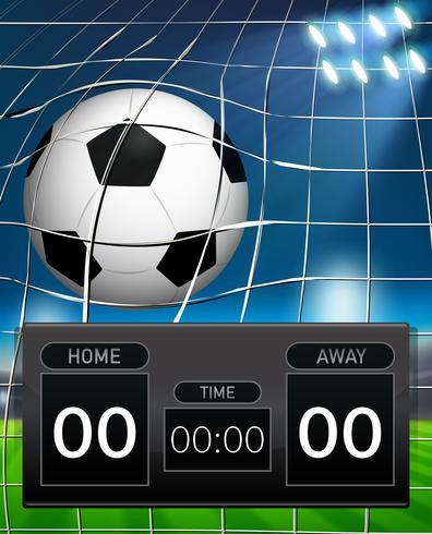 Una plantilla de marcador de fútbol. vector