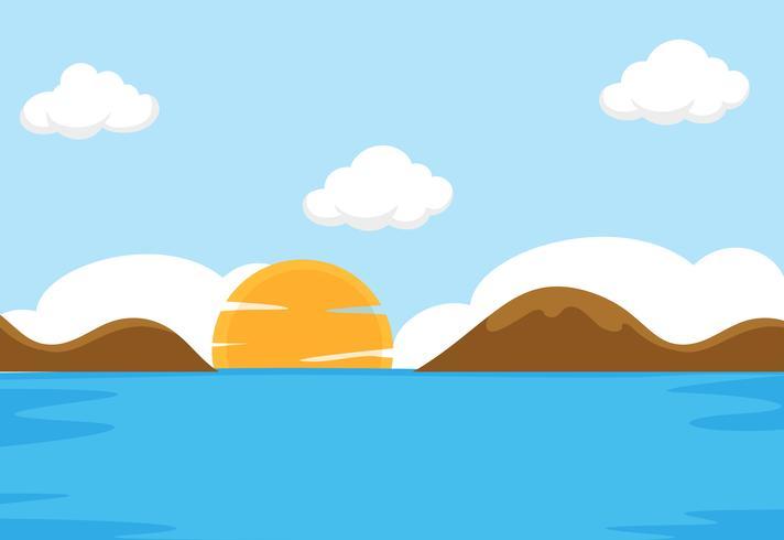 En platt havsplats