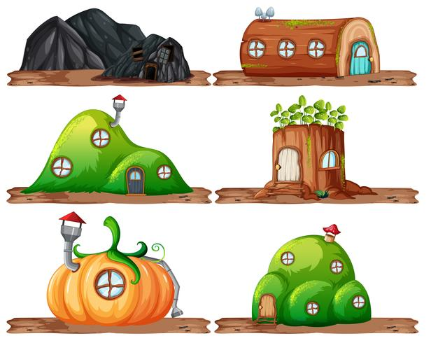 Set of fairy house