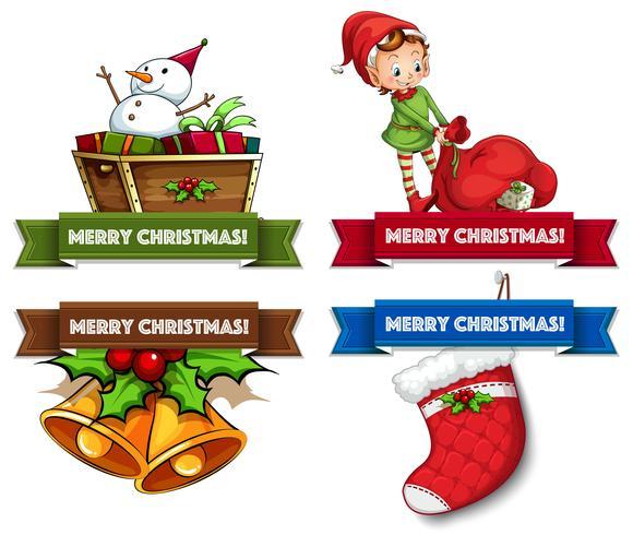 Logos de Noël vecteur