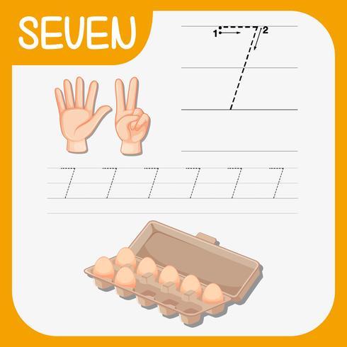 Antal sju spårarkiv vektor