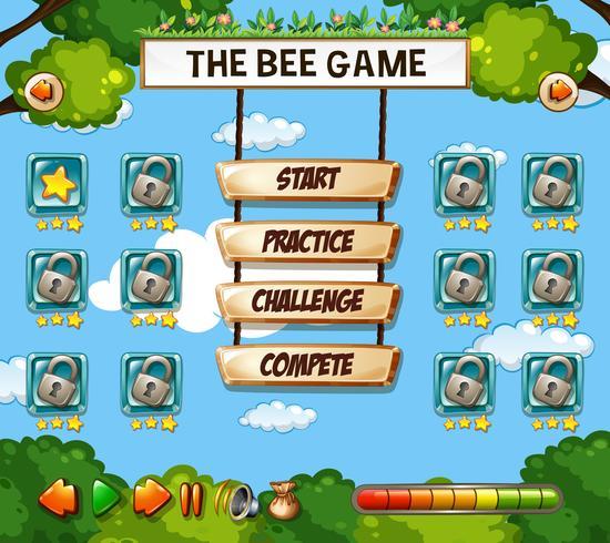 Un modèle de jeu d'abeille vecteur