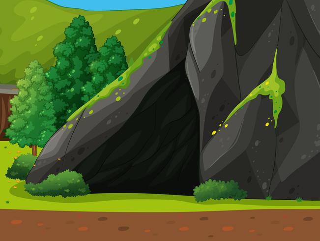 Una cueva vector