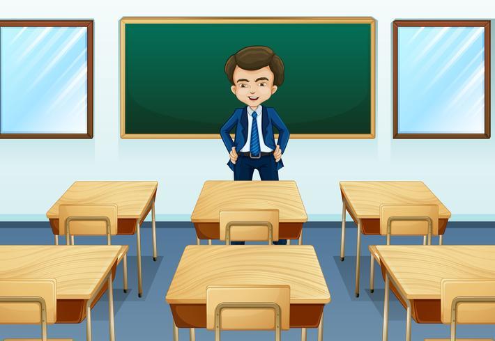 Un profesor dentro de la sala vector