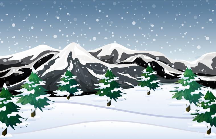 Fondo de nieve de invierno blanco vector