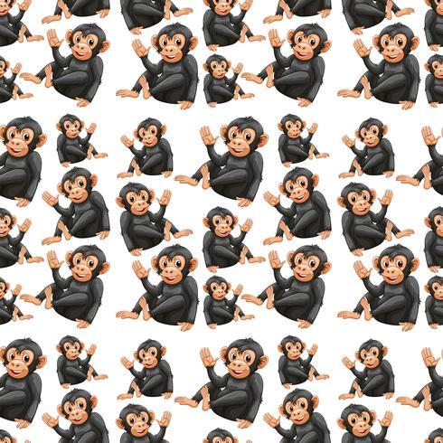 Speels aap naadloos patroon