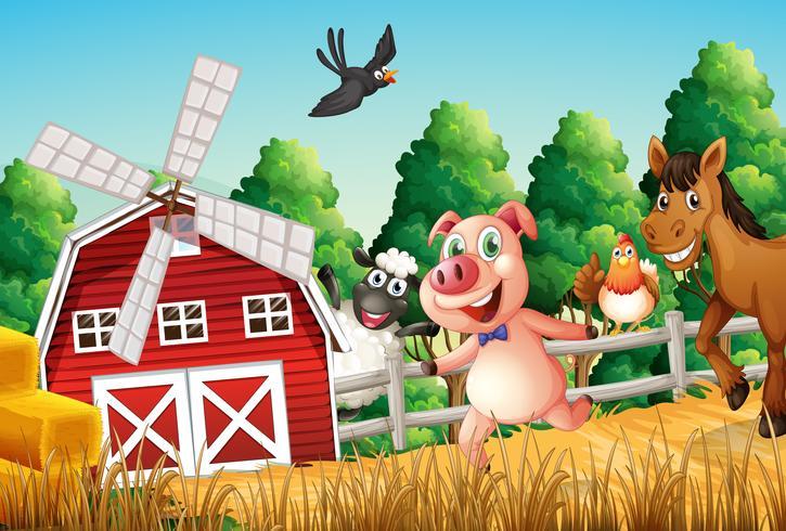 Gelukkige boerderijdieren