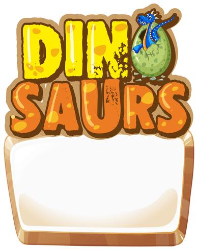 Border template with dinosaur egg