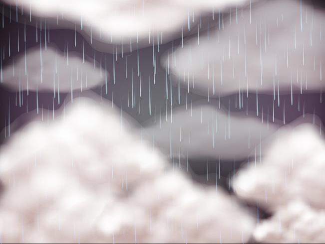 Céu de fundo no dia de chuva