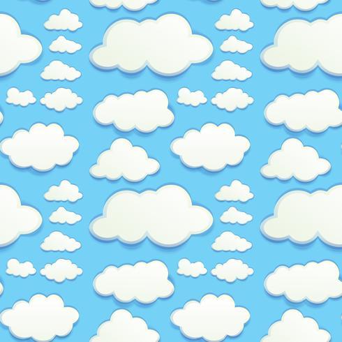 Naadloze wolken in blauwe hemel