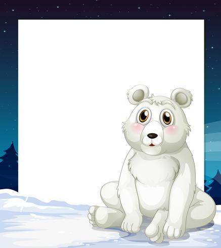 Una plantilla vacía con un oso polar. vector