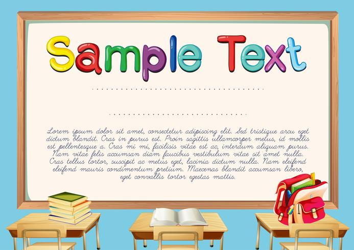 Certificate template with classroom background vector