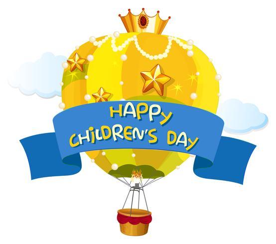 Una plantilla para el día de los niños felices vector