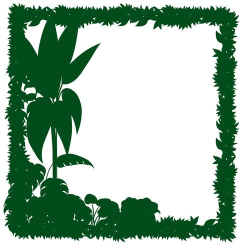 Gränsmall med gröna växter