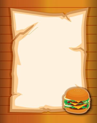Una cartoleria vuota con un hamburger