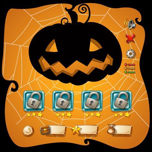 Spelmalplaatje met Halloween-thema