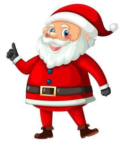 Papá Noel sobre fondo blanco